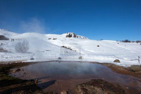 Geysire und heiße Pools, Island.