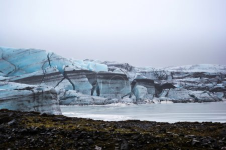 The Svinafellsjokull blue glacier