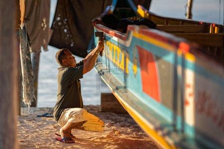 Boat maker near beach