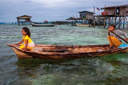 Sea gypsies on the Borneo Island