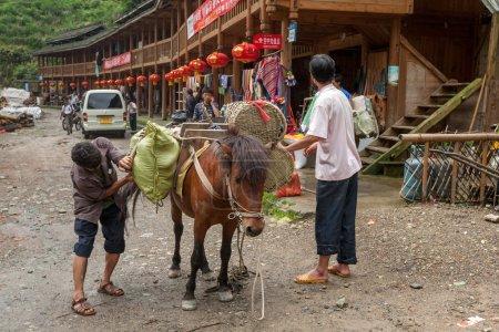 Live of the Yao ethnic minority tribes in Longji, China.