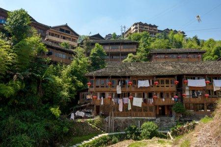 ethnic minority village in Guangxi Province, China.