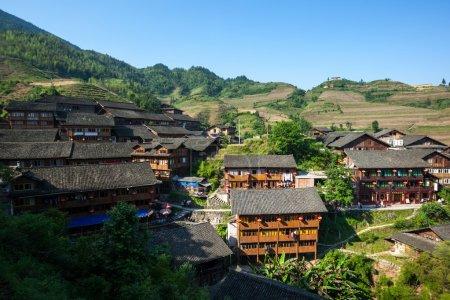 Yao ethnic minority village in Guangxi Province, China.