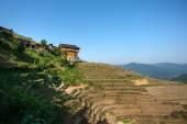 Zhuang ethnic minority village in Guangxi Province, China.