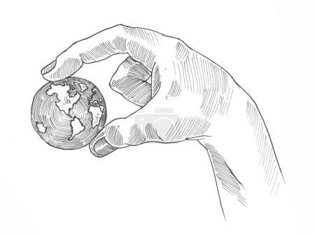 Photo pour Gravure de style stylo crayon peinture illustration concept image l'éclosion. Graver des hachures Lithographie collection de dessin. - image libre de droit