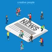 News flat infographics illustration