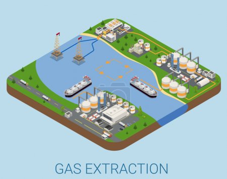 Gas extraction isometric concept