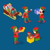 Little Santa helper troll children