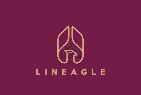 Eagle Abstract rising Wings Logo