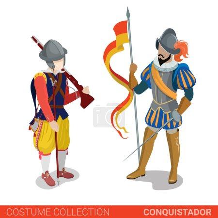 Conquistador medieval conqueror warrior fighter co...