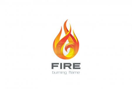 Illustration for Fire Flame Logo design vector template - Royalty Free Image