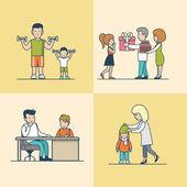 Linear Flat Family