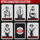 Vintage retro people collection.