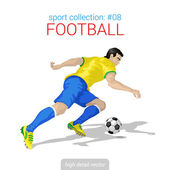 Sportsmen vector collection Football player forward offense Sportsman high detail illustration