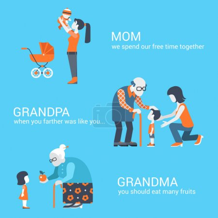 Family seniors parents concept