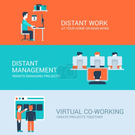 Business distant co-working