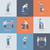 Online business shopping  icon set