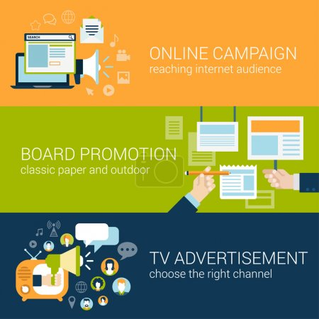 Infographic advertising campaign