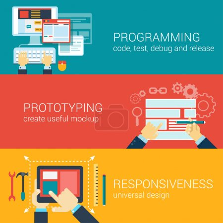 Flat style process programming