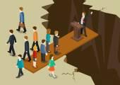 Democracy politics system concept