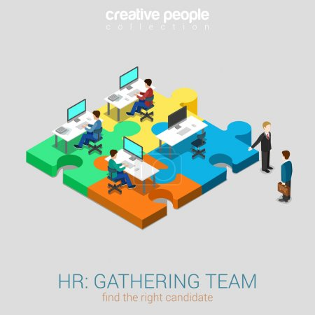 HR human relations gathering team