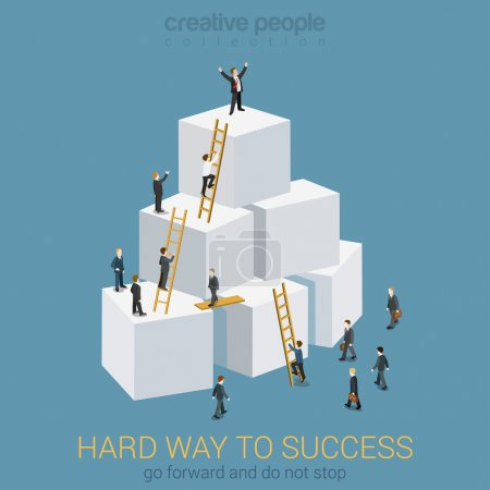 Way to success in business  concept