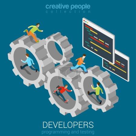 Developers programmer coder teamwork