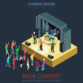 Rock music band infographic concept