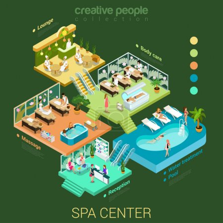 isometric abstract spa salon center