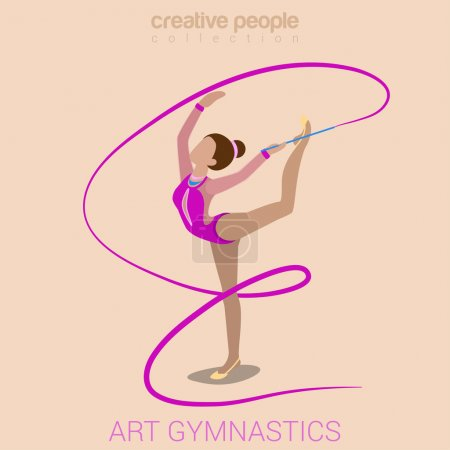 Sports woman art gymnastics workout