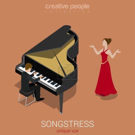 solo female singer piano accompaniment
