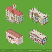 Architecture buildings icon set