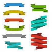 Set of creative modern ribbons web element templates Retro vintage empty colorful stripes or bands for your text