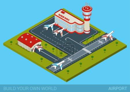 concept infographie aéroport