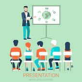Flache Business-meeting