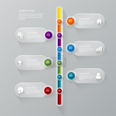 Stylish timeline process corporate infographics