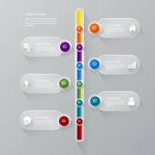 Stylish timeline process corporate infographics