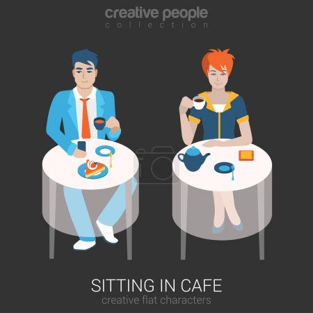 people relax in cafe