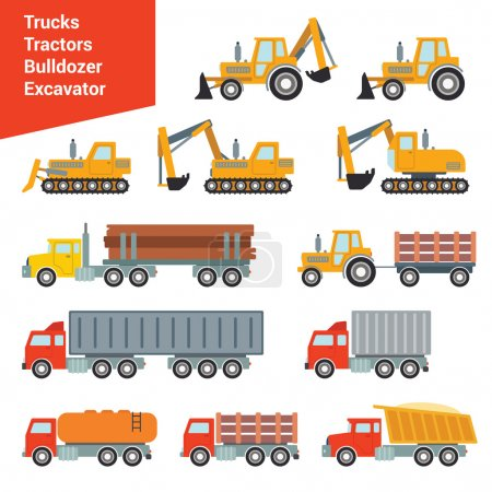 city construction transport icon set.