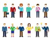 Flat style modern people icons