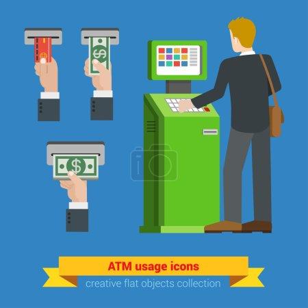 ATM terminal usage bank credit card
