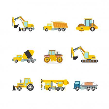 construction site wheeled tracked vehicles