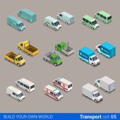 freight cargo transport icons