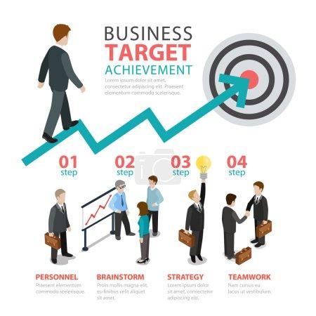 Business achievement target concept.
