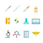 pharmaceutical concept icons set