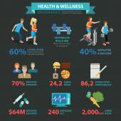 Health wellness  infographics concept