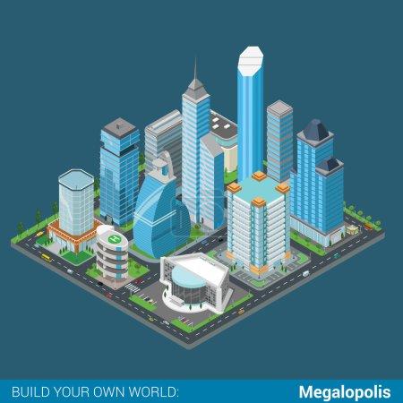 isometric megalopolis business city