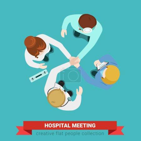 Hospital medical handshake team meeting