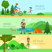 set of sport outdoor activities