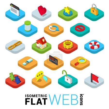 mobile app infographics icon set.